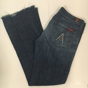 7 For All Mankind A Pocket Raw Hem Jeans Size 30